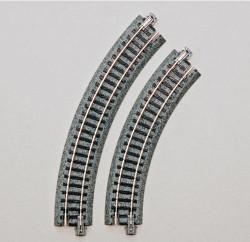 Kato Unitrack Compact (R117-45) Curved Track 45 Degree 4pcs N Gauge 20-176