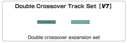 Kato Unitrack (V7) Double Crossover Track Set N Gauge 20-866
