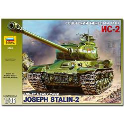 ZVEZDA 3524 Soviet Heavy Tank IS-2 Military Model Kit 1:35