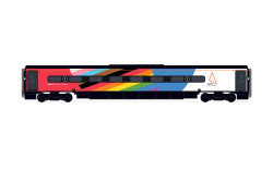 Hornby Coach R40196 Avanti West Coast, Pendolino Pantograph Standard Buffet (PTSRMB), Pride Livery - Era 11
