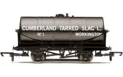 Hornby Wagon R60034 20T Tank Wagon, Cumberland Tarred Slag - Era 2/3