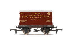 Hornby Wagon R60072 LMS, Conflat A, Furniture Removal - Era  3