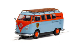 Scalextric Slot Car C4217 VW T1b Microbus - ROFGO Gulf Collection - JW Automotive