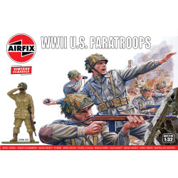 Airfix A02711V WWII U.S. Paratroops 1:32 Plastic Model Kit