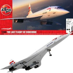 Airfix A50189 The Last Flight of Concorde Gift Set 1:144 Plastic Model Aircraft Kit