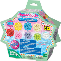 Aquabeads Star Bead Pack Refill Pack - 800 Beads in 8 Colours