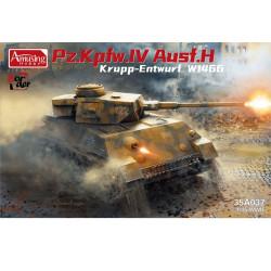 Amusing Hobby 35A037 Panzer IV Ausf.H Krupp Entwurf 1:35 Plastic Model Tank Kit
