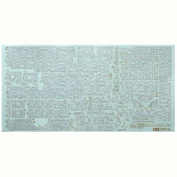 TAMIYA 12644 Elefant Zimmerit Sticker Coating Sheet 1:35 Military Model Kit