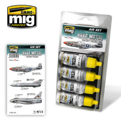 Ammo by Mig Bare Metal Aircraft Colours Acrylic Paint Set Mig 7216
