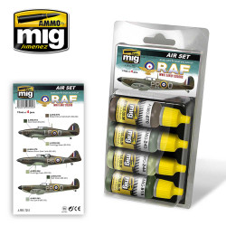 Ammo by Mig Early WWII Raf Acrylic Paint Set For Model Kits Mig 7215