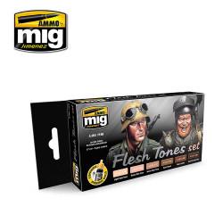 Ammo by Mig Flesh Tones Acrylic Paint Set For Model Kits Mig 7168