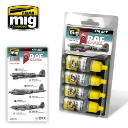 Ammo by Mig Late WWII Raf Acrylic Paint Set For Model Kits Mig 7214