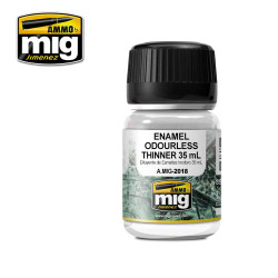 Ammo by Mig Odourless Enamel Thinners 35ml For Model Kits Mig 2018