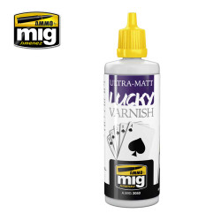 Ammo by Mig Ultra Matt Lucky Varnish 60ml For Model Kits Mig 2050