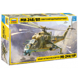 Zvezda 4823 Soviet Attack Helicopter MIL-Mi 24 V/VP 1:48 Plastic Model Kit