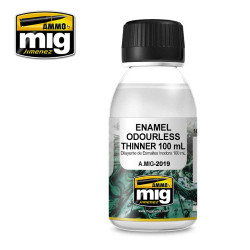 Ammo by Mig Odourless Enamel Thinners 100ml For Model Kits Mig 2019