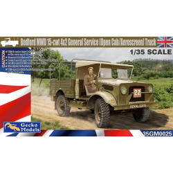 Gecko Models 35GM0025 Bedford MWD 15cwt 4x2 General Service Truck 1:35 Model Kit