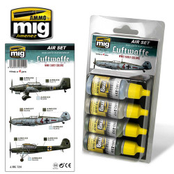 Ammo by Mig Luftwaffe Early WWII Acrylic Paint Set For Model Kits Mig 7210