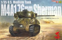 Asuka 35047 US Medium Tank Sherman M4A176 1:35 Plastic Model Kit