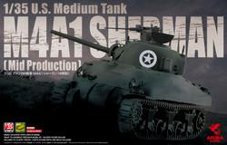 Asuka 35010 US Medium Tank Sherman M4A1 1:35 Plastic Model Kit