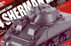 Asuka 35AS004 US Medium Tank M4 Sherman Late Production 1:35 Plastic Model Kit