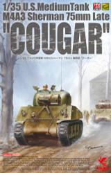 Asuka 35046 US Late Cougar Sherman M4A3 Tank 1:35 Plastic Model Kit