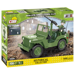 Cobi 2399 Historical Collection Jeep Willys MB 1/4ton 4x4 Model Car 91pcs