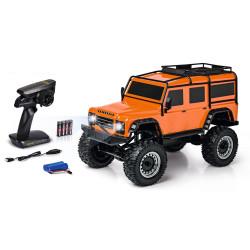 Carson Land Rover Defender Crawler 1:8 Ready to Run RC Car Orange C404171