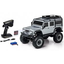 Carson Land Rover Defender Crawler 1:8 Ready to Run RC Car Silver C404172