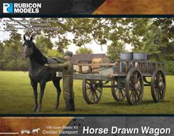 Rubicon Models 280090 Horse Drawn Wagon 1:56 Plastic Model Kit