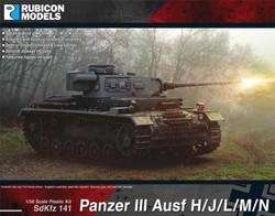Rubicon Models 280092 Panzer III Ausf H/J/L/M/N 1:56 Plastic Model Kit