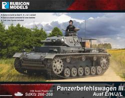 Rubicon Models 280093 Panzerbefehlswagen III Ausf E/H/J/L 1:56 Plastic Model Kit