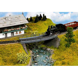 NOCH Curved Bridge Base Kit 18x6.5x2.4cm HO Gauge Scenics 21350