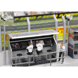 Slot Track Scenics TS/Dec 2 Timing Stand Decals Mercedes - for Scalextric
