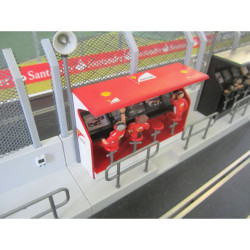 Slot Track Scenics TS/Dec 1 Timing Stand Decals Ferrari - for Scalextric