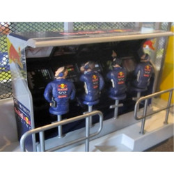 Slot Track Scenics TS/Dec 3 Timing Stand Decals Red Bull - for Scalextric