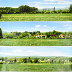 GAUGEMASTER Large Backscene - Open Field (2744 x 304mm) OO Gauge Scenics GM703