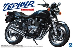 Aoshima 04149 Kawasaki Zephyr 1:12 Plastic Model Bike Kit