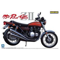 Aoshima 04150 Kawasaki 750 Roadster ZII 1:12 Plastic Model Bike Kit