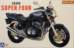 Aoshima 04215 Honda Cb400SF (Black) 1:12 Plastic Model Bike Kit