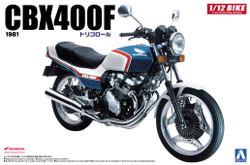Aoshima 05297 Honda CBX400F Tricolor 1:12 Plastic Model Bike Kit