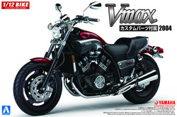 Aoshima 05430 Yamaha Vmax With Custom Parts 1:12 Plastic Model Bike Kit