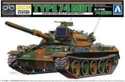 Aoshima 05742 JGSDF Type 74 Tank Kit Inc. 2xFA130 Motors 1:48 Plastic Model Kit
