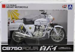 Aoshima 10465 Honda CB750 Four Police 1:12 Diecast Model Bike