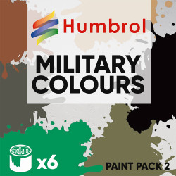 Humbrol 14ml Enamel Paint Pack 2 - 6 Military Colours Set 2