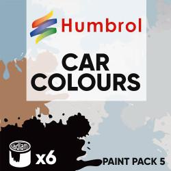 Humbrol 14ml Enamel Paint Pack 5 - 6 Car Colours