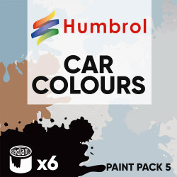 Humbrol 14ml Enamel Paint Pack 5 - 6 Car Colours