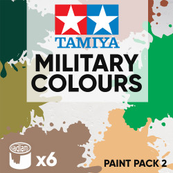 Tamiya Acrylic 10ml Paint Pack 2 - 6 Military Colours Set 2