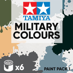 Tamiya Acrylic 10ml Paint Pack 1 - 6 Military Colours Set 1