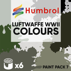 Humbrol 14ml Enamel Paint Pack 7 - 6 Luftwaffe WWII Colours